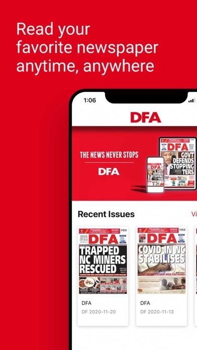 DFA NewsScreenshot of 2