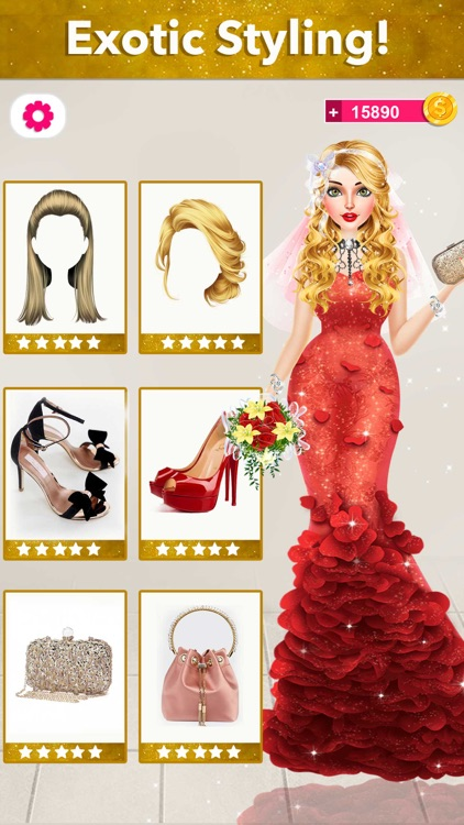 Bride Wedding Fashion Dressup