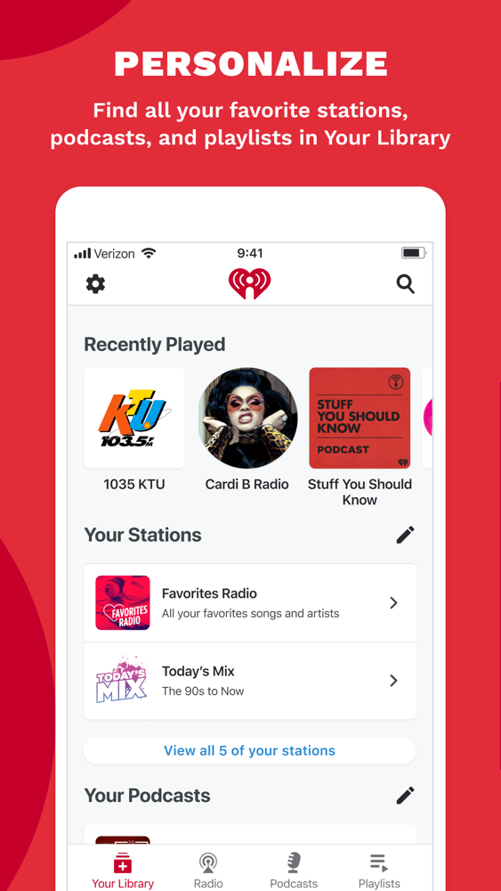 iHeart: Radio, Music, Podcasts - AppWhip.com