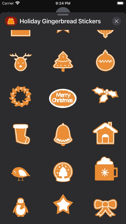 Holiday Gingerbread Stickers