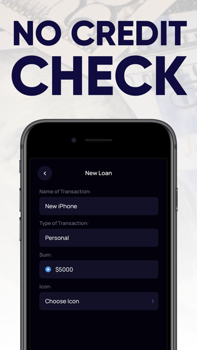Cash Advance. Loan tracker app