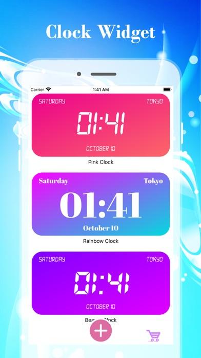 カラーデジタル時計ウィジェットのおすすめ画像3