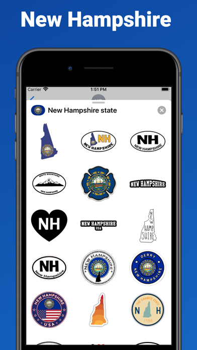 New Hampshire - USA stickers screenshot 1