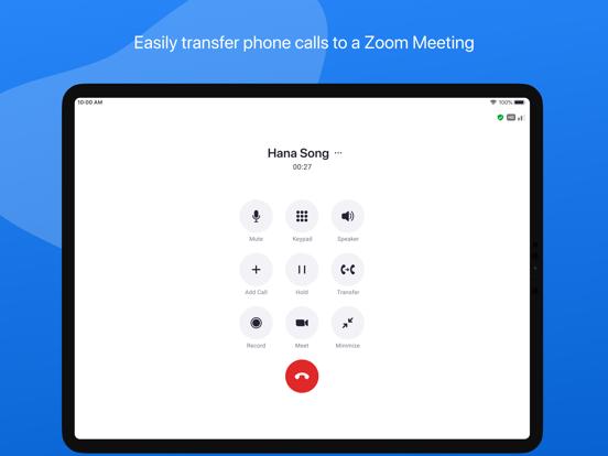 ZOOM Cloud Meetings iPad captures décran
