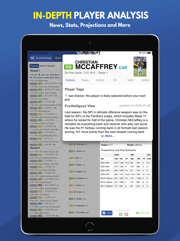 Fantasy Football Draft 2020 screenshot 19