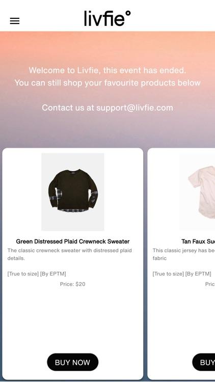 Livfie - livestream shopping