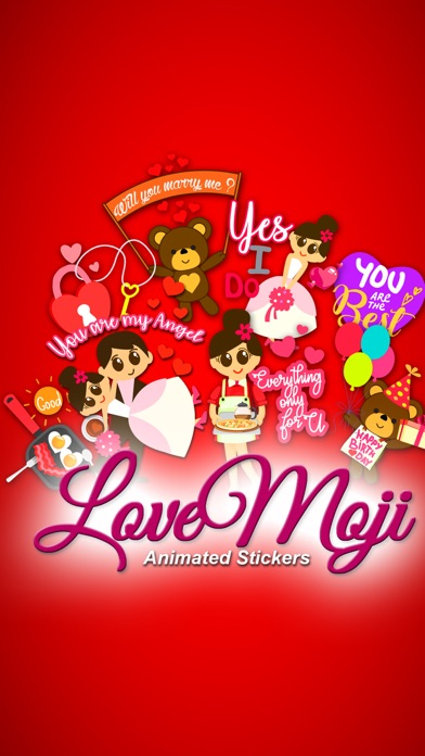 lovemoji Animated Sticker Screenshot