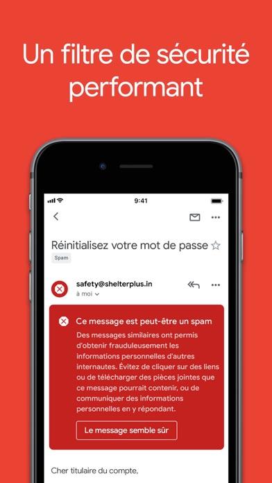 Gmail – l'e-mail Google iphone captures décran
