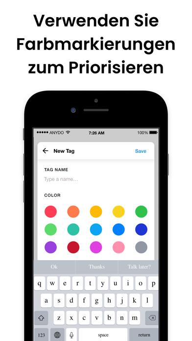 Any.do: Aufgabenliste KalenderScreenshot von 5
