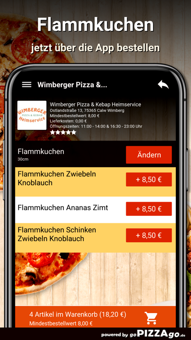Wimberger Pizza Calw Wimberg screenshot 5