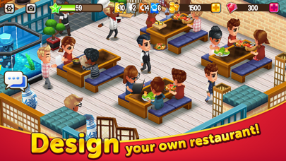 Food Street – My Cafe Game free Gems hack