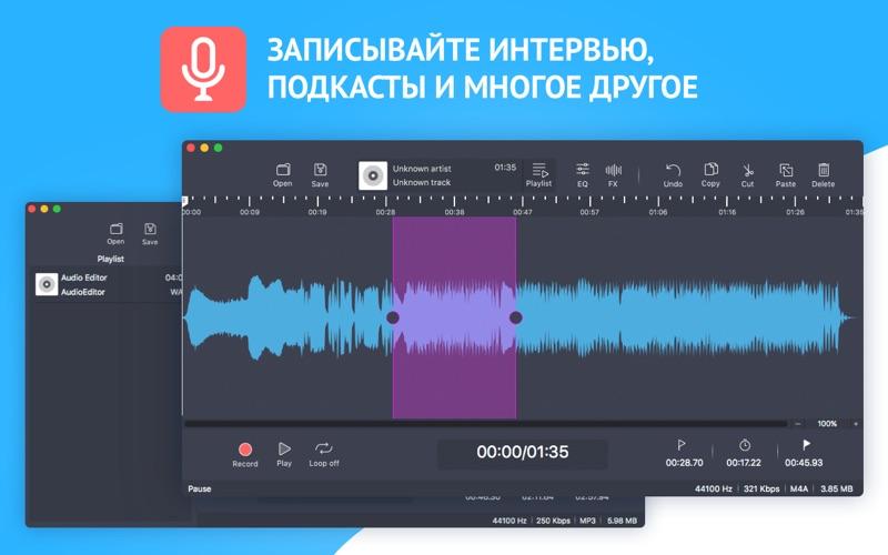 Аудиоредактор: Обработка звука скриншот программы 2