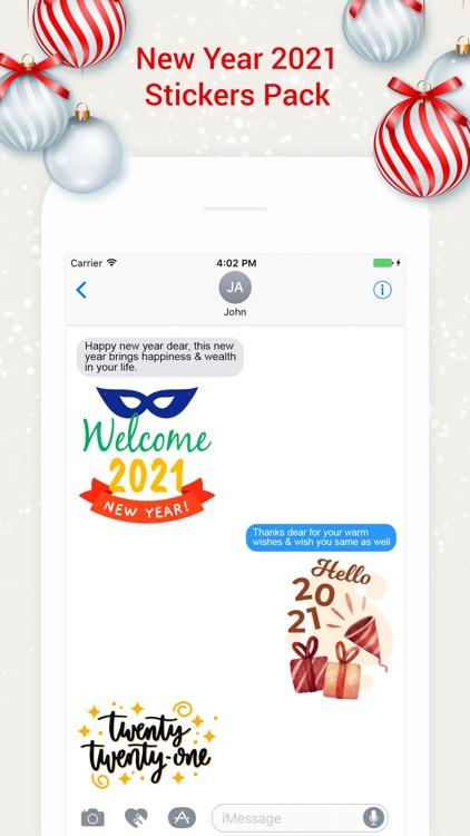 New Year 2021 Stickers! screenshot-3