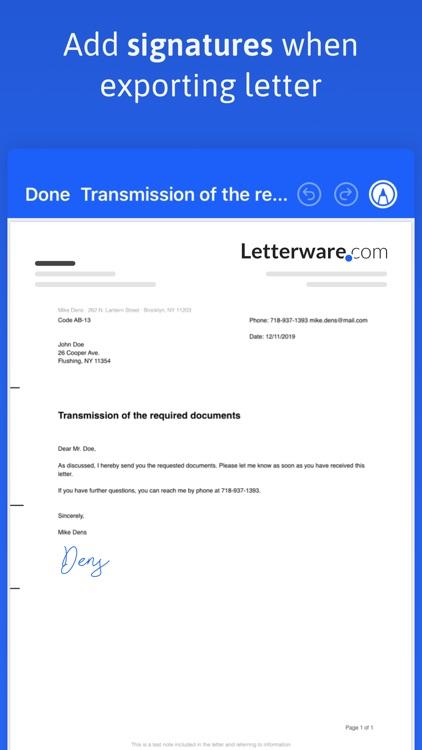 EasyLetter - Create letters screenshot-3