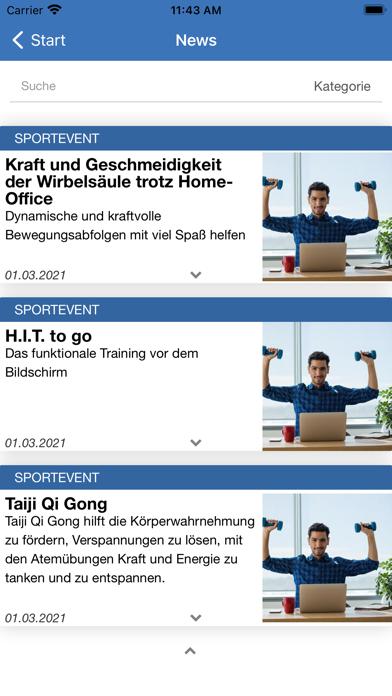 Betriebssport Stadt DüsseldorfScreenshot von 3