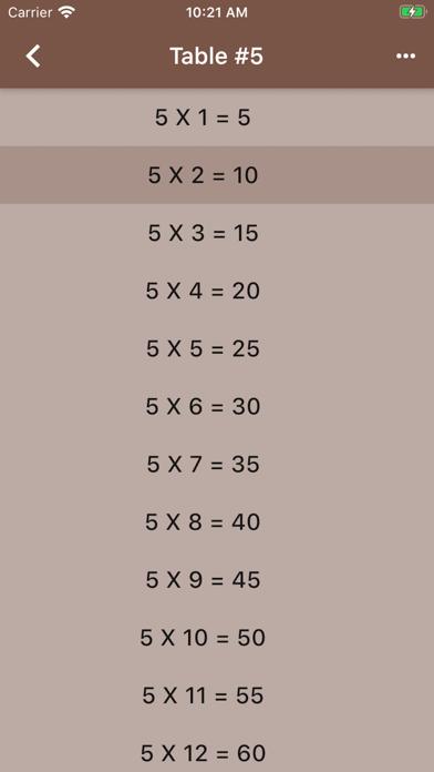 Audible Math Tables Pro screenshot 8