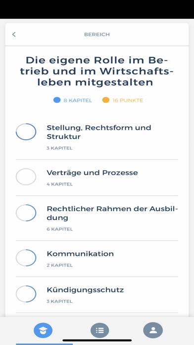 Screenshot of Bankkaufmann App