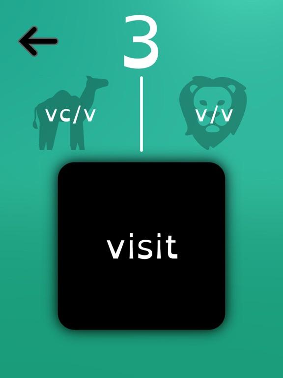 Syllable Division Swipe screenshot 4