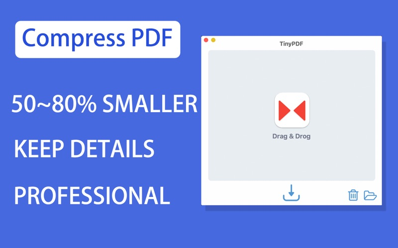 TinyPDF - PDF Компрессор скриншот программы 1