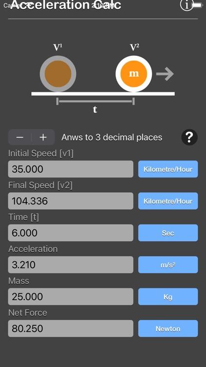 Acceleration Calculator Plus screenshot-8
