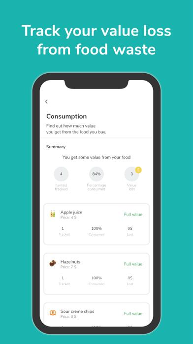 NoWaste - Food Inventory List Screenshot
