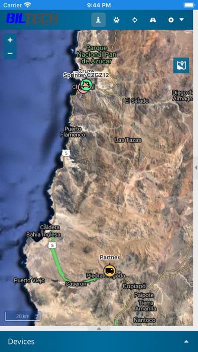Biltech GPS screenshot 2
