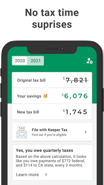 Keeper Tax: Automatic Savings screenshot-3
