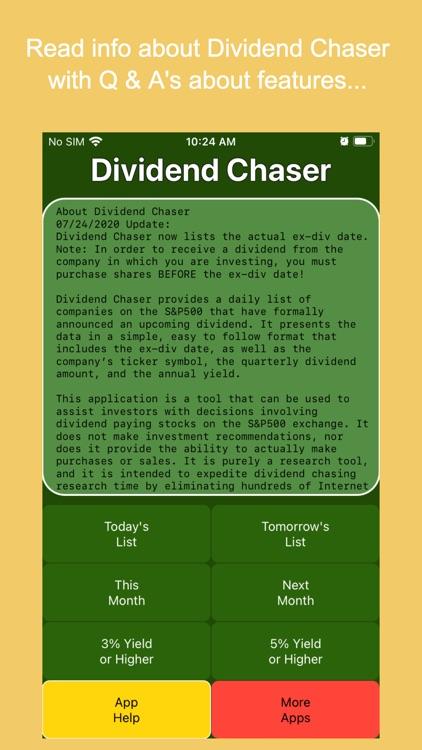 Dividend Chaser