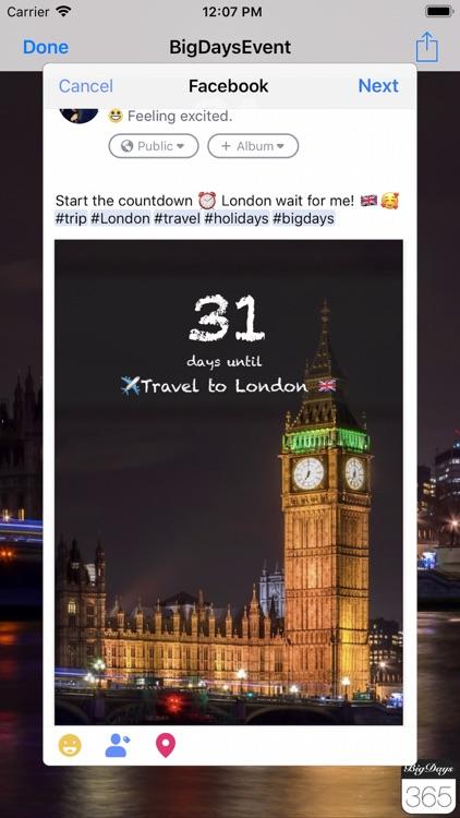 Big Days Pro Events Countdown screenshot-4