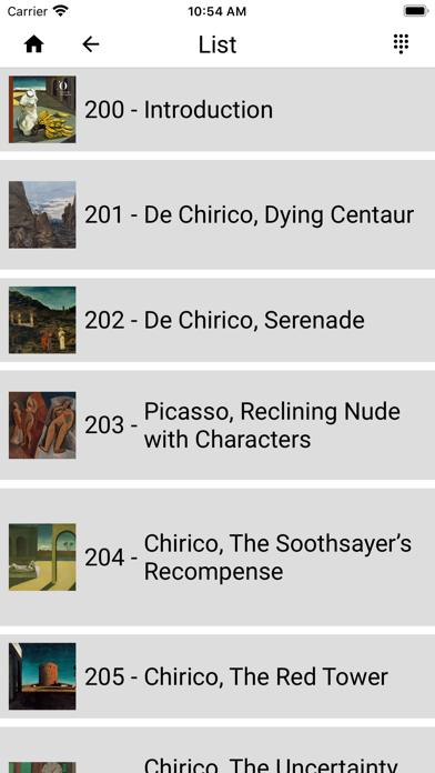 Chirico. Metaphysical painting screenshot 2