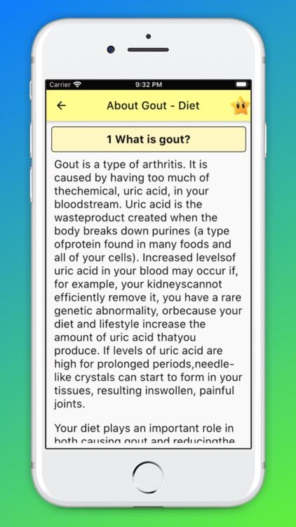Gout Diet - Acid Uric Table screenshot-5