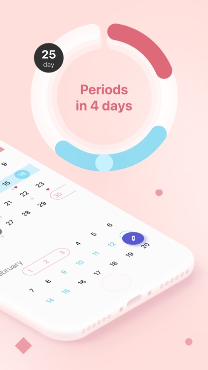 Clover Period Tracker Calendar screenshot-1