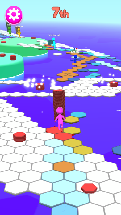 Hexagon Run 3D screenshot 2