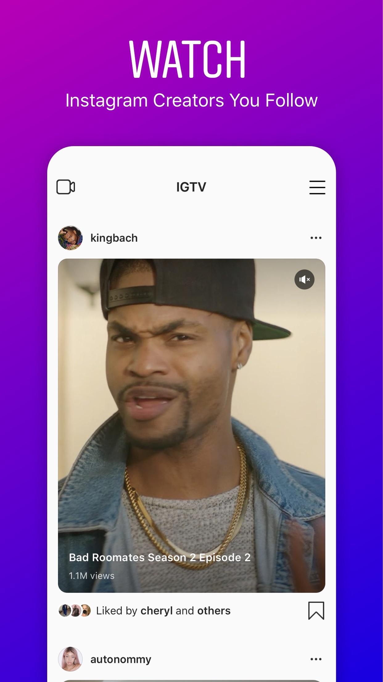 Screenshot do app IGTV: Vídeos do Instagram