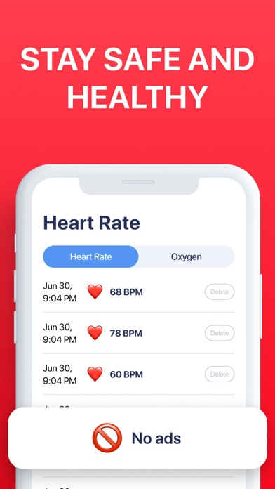 Blood Oxygen App Screenshot