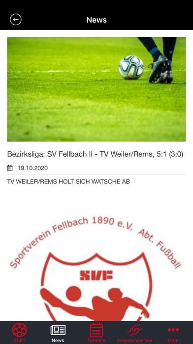 SV Fellbach FußballScreenshot von 3