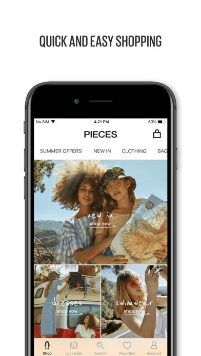 Screenshot #1 pour PIECES fashion app