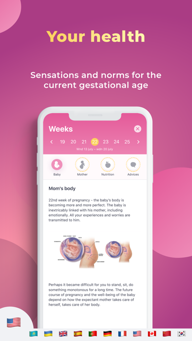 Pregnancy Tracker & Calculator Screenshot