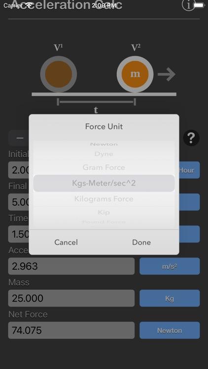 Acceleration Calculator Plus screenshot-4