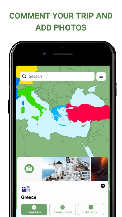 Visited Countries Map Triplog Screenshot