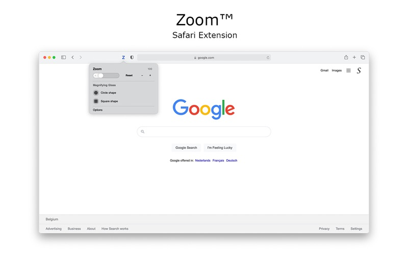 Zoom for Safari скриншот программы 1