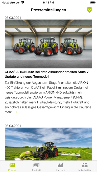 messages.download My CLAAS software