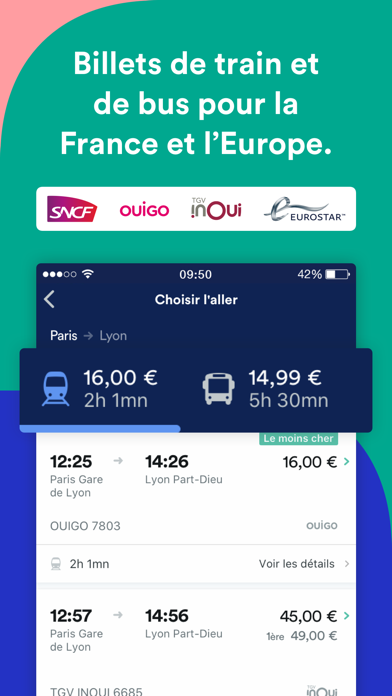 Screenshot #1 pour Trainline : voyages en train
