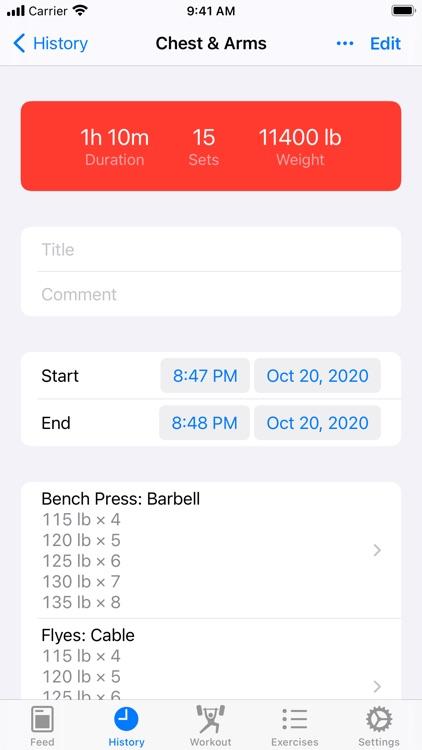 Iron - Workout Tracker screenshot-3