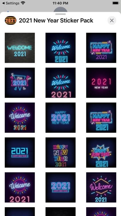 2021 New Year Sticker Pack screenshot-5