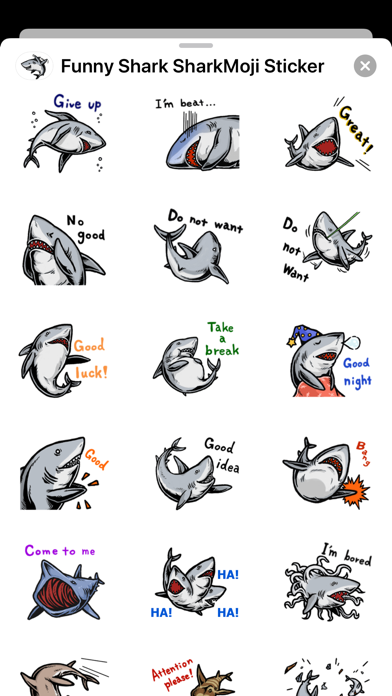 Funny Shark SharkMoji Stickers screenshot 3