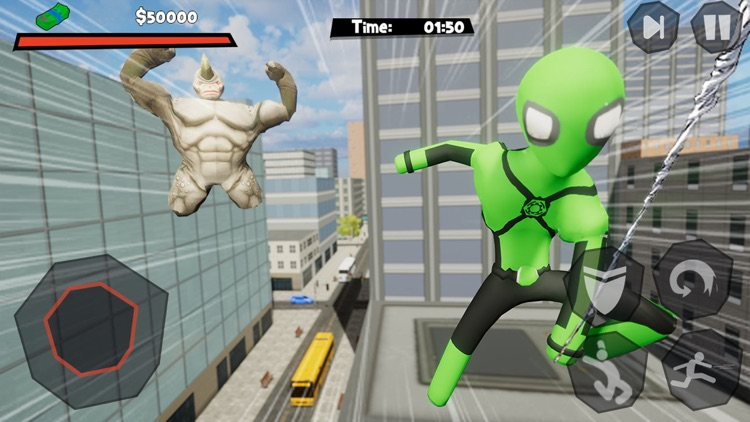 Stickman Spider -Rope Hero Sim screenshot-5