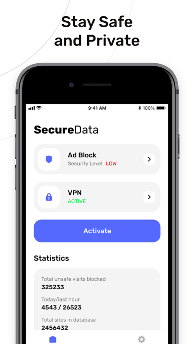 Secure Data: Protection Screenshot