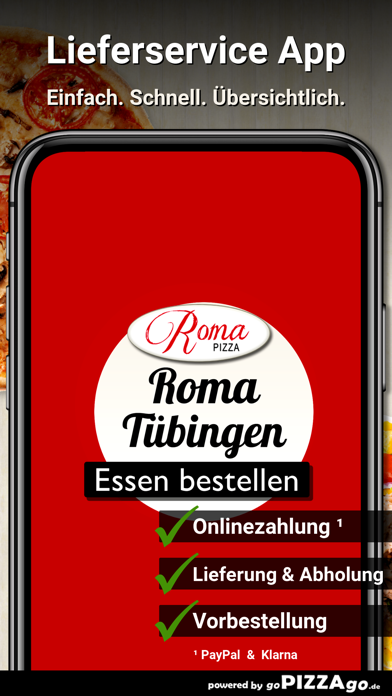 Roma Pizza Tübingen Lustnau screenshot 1