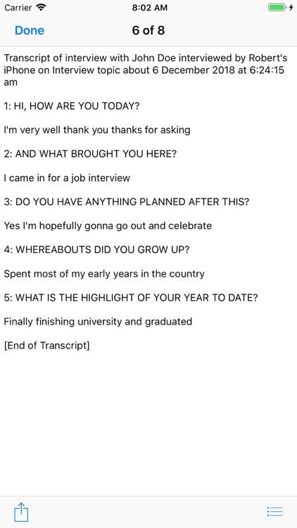 Our Interview XT screenshot-7